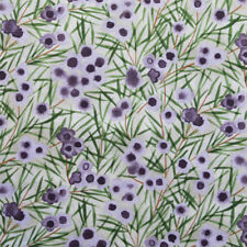 AUSTRALIAN ABORIGINAL QUILTING FABRIC - WAX FLOWER MAUVE - sold by FQ and METRE