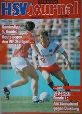 Programm 1989/90 HSV Hamburger SV - VfB Stuttgart / MSV Duisburg (Pokal)