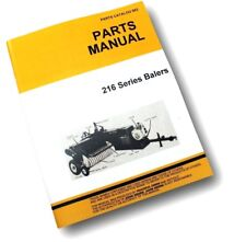 PARTS MANUAL FOR JOHN DEERE 216 HAY BALER KNOTTER SQUARE EXPLODED VIEWS ASSEMBLY