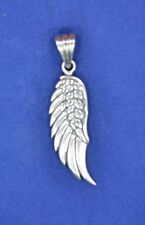 """Sterling Silver (925) Angel Wing Pendant 1.75"""" long Pattern is on both sides"""