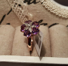 Diamond Cluster Amethyst Fine Rings