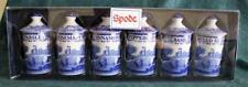 Spode Blue Italian Set of 6 Spice Jars ~ Herb Jars ~ Boxed & New