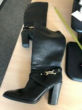 EUC Kate Spade Montreal Black Pebbled Leather Tall High Heel Boots - Size 11