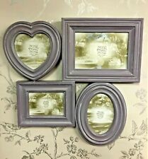 Amethyst Purple Lilac Shabby Chic Collage Heart Oval Photo Frame 22908