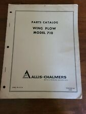 Allis Chalmers Wing Plow Parts Catalog