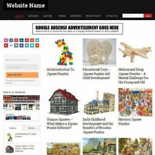 JIGSAWS AND PUZZLES STORE - Mobile Friendly Responsive Website Business For Sale