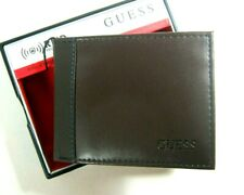 Guess Men's Wallet RFID Blocking Security Bifold Brown 31GO220025