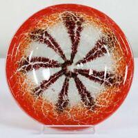 WMF Ikora Glas Teller Schale ∅ 24 cm rot Karl Wiedmann 30er Jahre