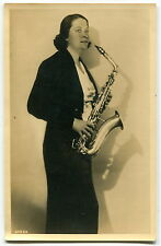 1945 Ad Postcard: Professional Female Musician Saxophone Player [Germany?]