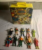 1984 Vintage Super Powers Kenner Figures lot & Carrying Collector Case Batman