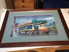 Car Poster of a Morris Minor 60cm x 45cm Aprox