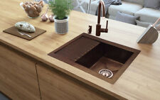 "Copper Kitchen Sink with Drainer 50""x24"" NO CUSTOM DUTIES"
