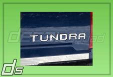 2014 15 2016 Metallic Chrome Toyota Tundra Tailgate Inlay Insert Letters Set