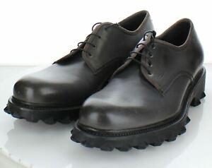 95-05 NEW $795 Men's Sz 11 D Salvatore Ferragamo Leather Plain Toe Oxfords In Gr