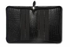 Deluxe A5 Diary/Notebook Cover In Quality Croc Leather With Zip Fastening