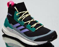adidas Terrex Free Hiker Women's Core Black Light Purple Green Hiking Shoes