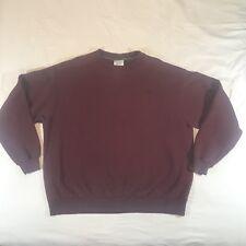 Champion Sweatshirt Crewneck VTG Burgundy Embroidered Logo Size XL