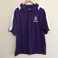 Fremantle Dockers Official AFL Football Polo Shirt Purple White Mens XL