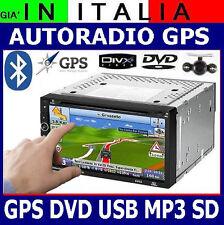 AUTORADIO NAVIGATORE GPS MAPPA EUROPA DVD USB TOUCHSCREEN 2DIN COMANDI VOLANTE