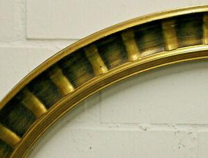 Holzrahmen gold oval Falzmaß ca. 59,5x75 cm