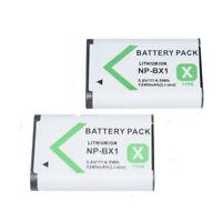 2X Battery NP-BX1 FOR SONY CyberShot DSC- HX80 HX90 v RX100 III IV RX1R II R