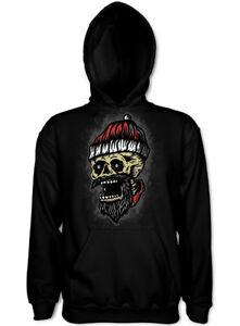 X-MAS Weihnachtspullover Skull Santa Unisex Hoodie Weihnachten Pulli Totenkopf