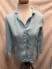 "Talbots IRISH LINEN BLUE TANK Blouse Top Shirt  Size 8  CHEST 36"" SMALL"