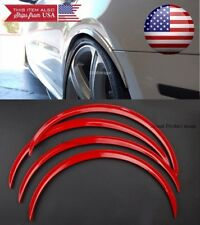 """2 Pairs Flexible 1"""" Arch Wide Body Fender Extension Red Lip For Mazda Subaru"""
