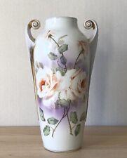 Beyer & Bock Volkstedt Thuringe Splendeur Vase en Porcelaine Roses Amphore