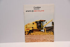New Holland 8080 original combine harvester tractor sales brochure early 1980s