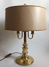 Bouillotte Lampe Frankreich Messing 3 flammig Frankreich Tischlampe Super Selten