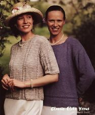 Classic Elite Yarns Knitting Pattern #641 After the Match - 2 Women's Tops
