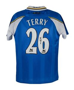 Signed John Terry 1998 Debut Shirt Chelsea FC Official Signing rare AFTAL COA