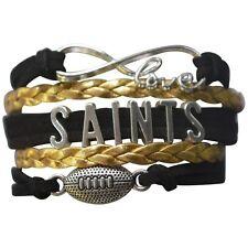 New Orleans Saints Bracelet, Saints Jewelry, Saints Gift, Football Bracelet