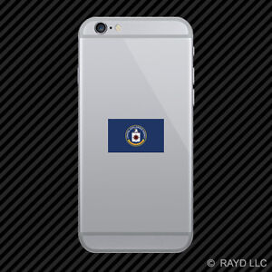 Central Intelligence Agency CIA Flag Cell Phone Sticker Mobile Die Cut black usa