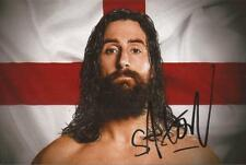 WWE WRESTLING* SAXON HUXLEY SIGNED 6x4 PORTRAIT PHOTO+COA