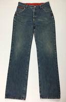 Wild jeans uomo usato W34 tg 48 dritto blu gamba dritta boyfriend slim T261