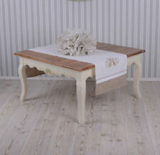 Coffee Table Country Style Living Room Old White Wooden Decorated