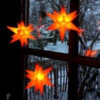 3er LED Außen-Stern-Set orange Außenstern Adventsstern Weihnachtsstern Outdoor