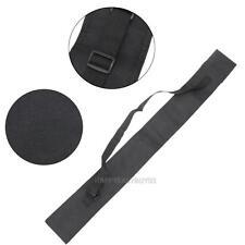 "45"" (115cm) Pool Cue Bag Black For 3/4 Billiard Stick Storage Fishing Rod Case"