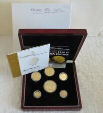 More details for 1936 edward viii new strike 6 coin gold layered silver proof pattern set
