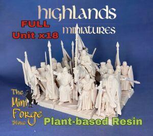 Crusader, Full unit, Highlands Miniatures, warhammer AOS inspired