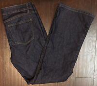 CABI 12x32 203L Dark Blue Wash Boot Cut Denim Stretch Jeans EUC
