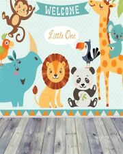 Cute Animals Picture Wood Floor Photography Background 4x5ft Photo Backdrop Prop