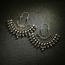 Earrings Silver Sleeper Ethnic Metal Skirt Retro Baroque DD12