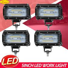 4x 5 Inch LED Pods Work Light Bar Rectangle Driving Fog Headlight Truck Off Road
