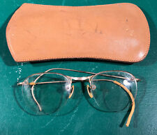 Vintage 12K Gold Filled Wire Half Rimmed Glasses (#5260-1)