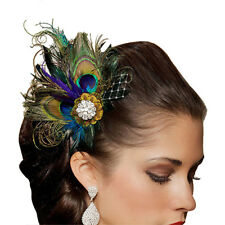 Peacock Feather Rhinestones Bridal Wedding Hair C Head Pin Hairpin gift (Go S0W0