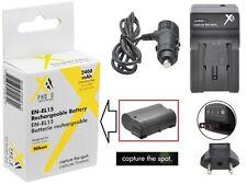 Hi Capacity XT ENEL15 Li-Ion Battery & 110/220V Charger for Nikon D600 D610 V1