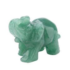 Natural Stone Carved Elephant Figurine Statue Reiki Healing Craft Decors GO